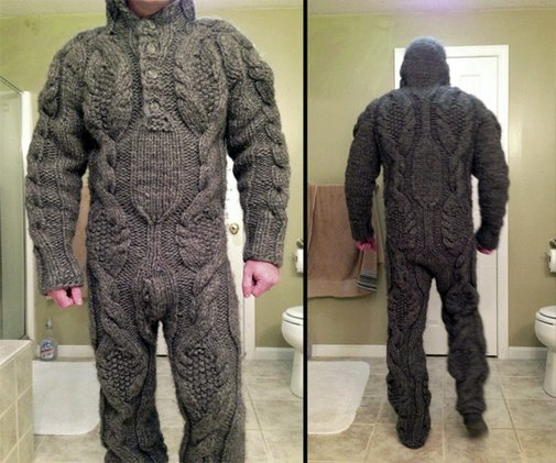 Obvious Winner - So Easy To See The Awesomeness - ow - Looks Itchy: The Full Body Sweater is Body Armor For The BitterCold