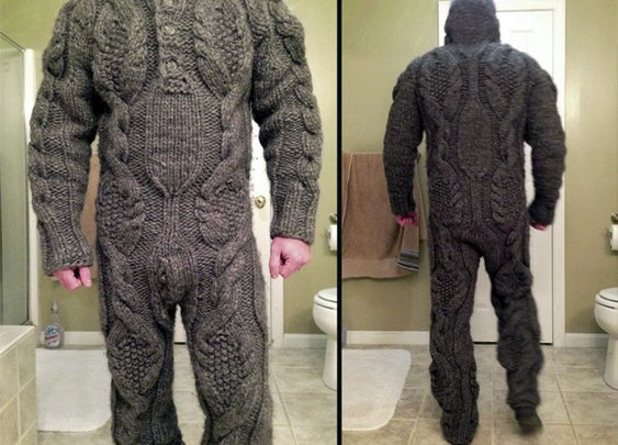 Obvious Winner - So Easy To See The Awesomeness - ow - Looks Itchy: The Full Body Sweater is Body Armor For The Bitter Cold