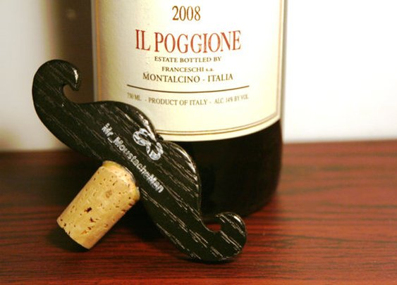 Moustache Wine Stopper