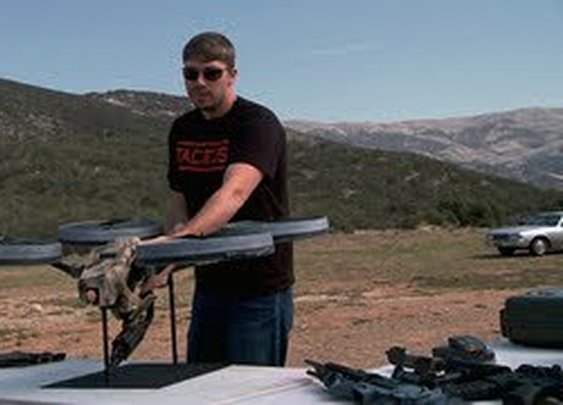 Prototype Quadrotor with Machine Gun! - YouTube