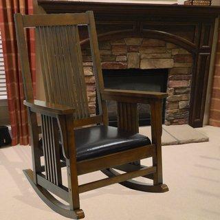 Montego Deluxe Mission Rocker Chair | Overstock.com