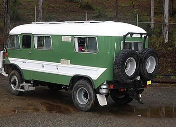 School Bus on a 4x4 Truck Chassis