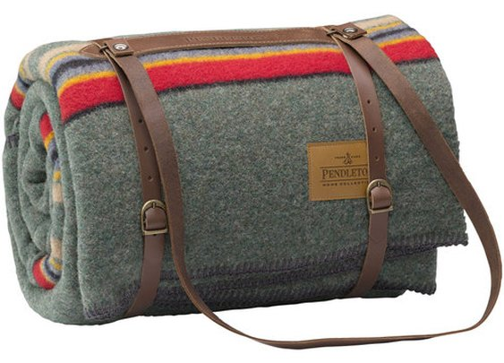 Pendleton Camp Blanket With Leather Carrier — The Man's Man