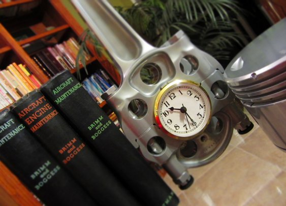 Authentic B 24 C 47 DC 3 Pratt Whitney R 1830 Airplane Master Rod Clock | eBay