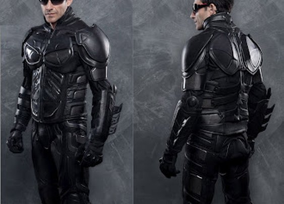 Dark Knight Replica Leather & Kevlar Motorcycle Suit
