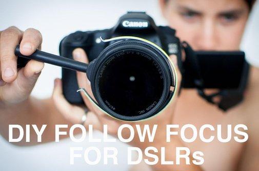 DIY Follow Focus for DSLRs
