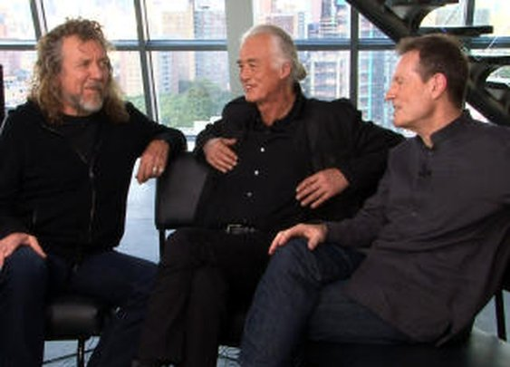 Web Excl.: Led Zeppelin address reunion questions - CBS News Video