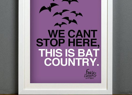 We Can't Stop Here This is Bat Country A3 Print by BrixtonCreative