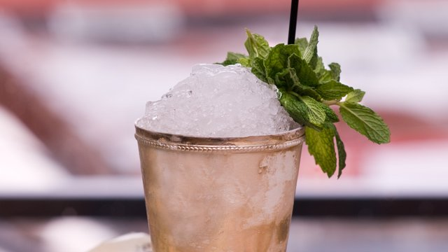 Mint Julep. NOT a Mojito Made with Bourbon .