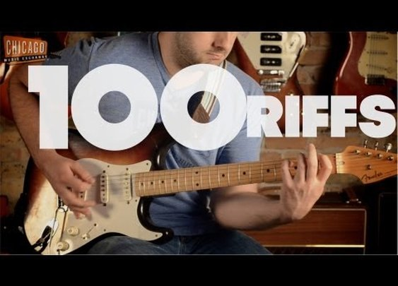 100 Riffs (A Brief History of Rock N' Roll) - Great Video