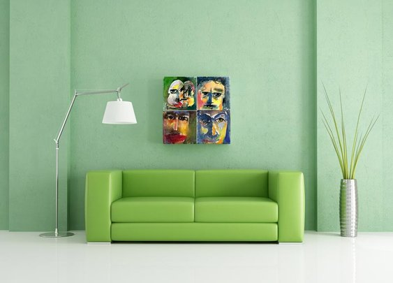 25 nonfigurative paintings – the abstract paintings in the interior