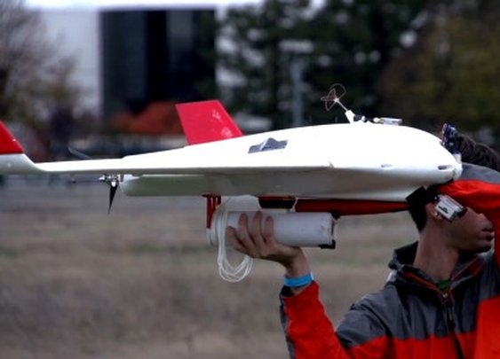 Burrito Bomber UAV delivers edible payload