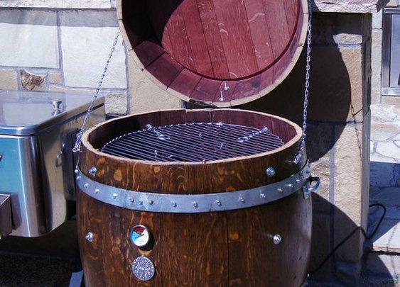 Wine Barrel Electric Smoker by winebarrelwoodcraft