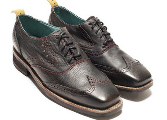 Fab.com   Sidewalk Wingtip Shoe Black