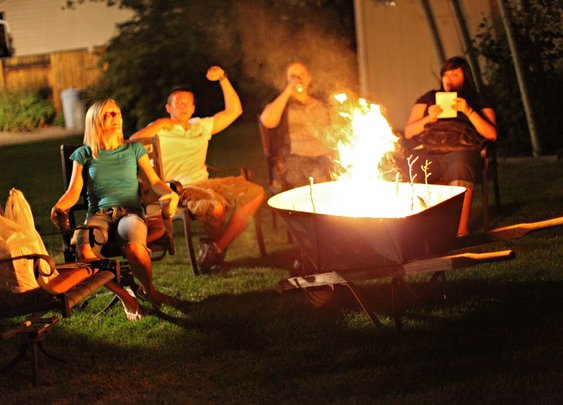 Wheelbarrow Firepit