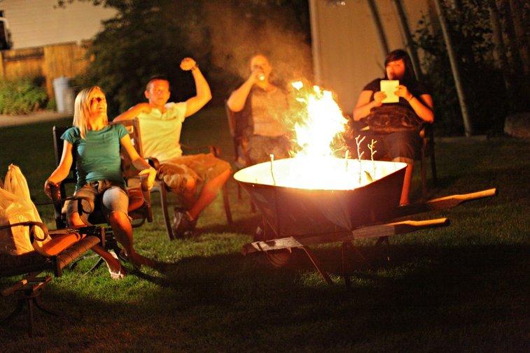 Wheelbarrow Firepit