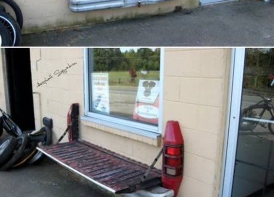 Flippin great idea for a garage bench.
