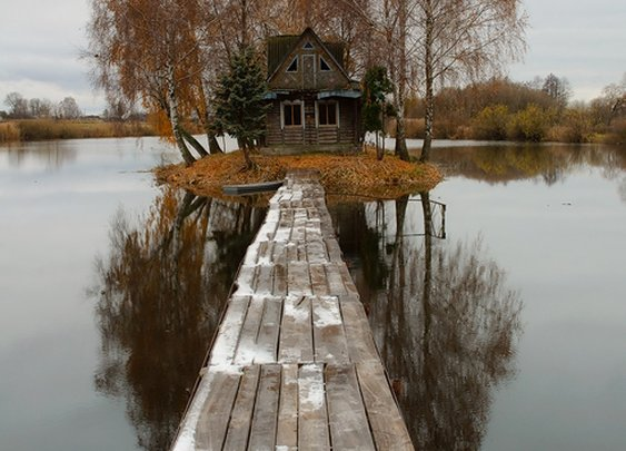 Now That's a Waterfront Cabin
