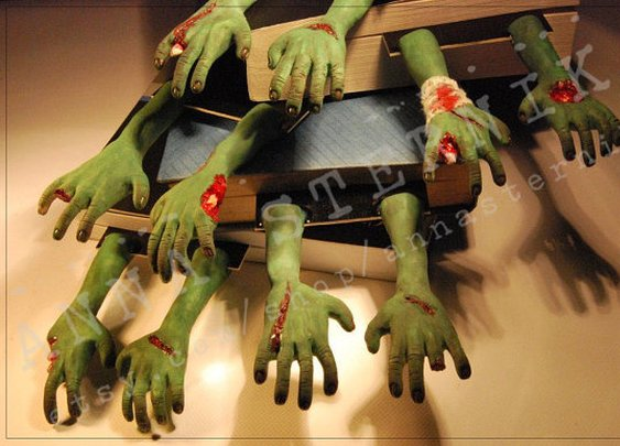 ZOMBIE Hands bookmark