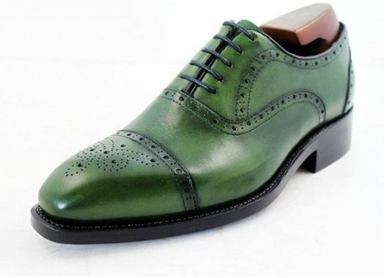 For the Man of a Thousand Shoes: Green Brogues
