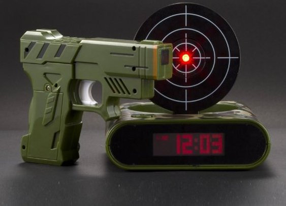 Amazon.com: Lock N' load target alarm clock/Gun alarm colck: Toys & Games