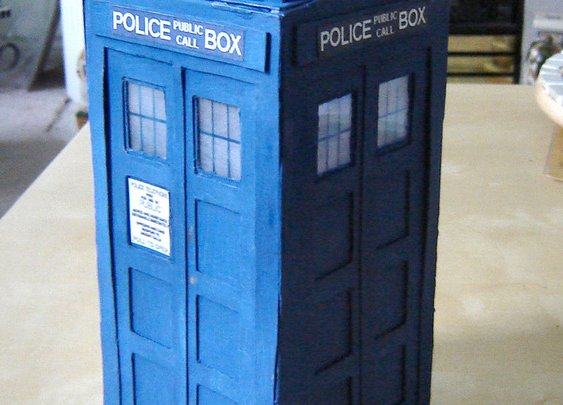 How to make a TARDIS out of cereal boxes