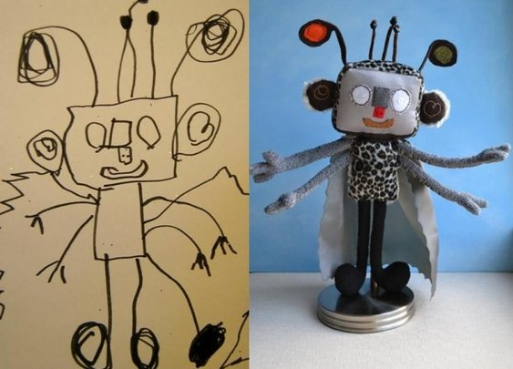 Child art as a toy