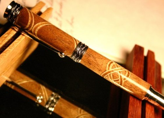 Handcrafted wood pen with Celtic knot by Hope & Grace Pens