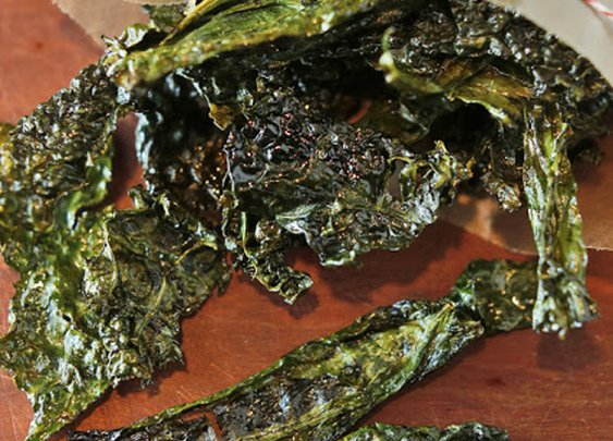 Candy Kale Chips & Pickled Kale Stems