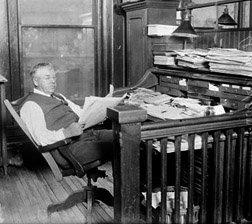Old School Newspaper Editor