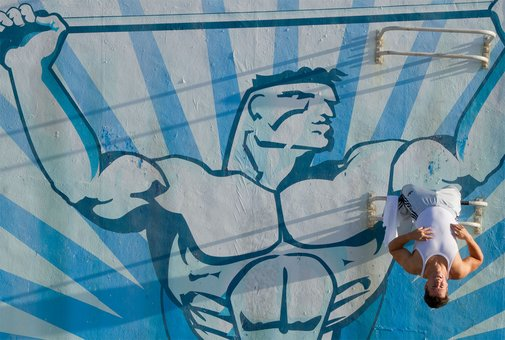 Mark Wahlberg and Dwayne Johnson in Pain & Gain | Official Movie Site | April 2013
