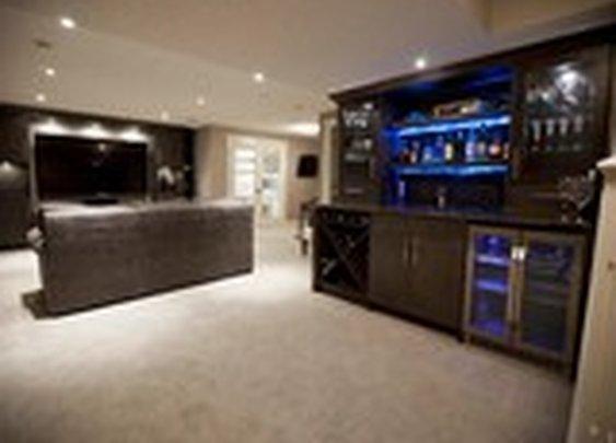 Zebedee Home Renovation - contemporary - basement - calgary - by Urban Abode
