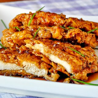 Double Crunch Honey Garlic Chicken Breasts had me at double crunch.