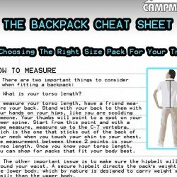 Backpack Cheat Sheet
