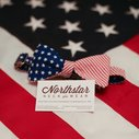 Handmade American Flag Bowties