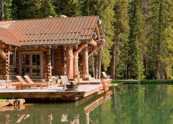 Montana Cabin with Swim-up Pond