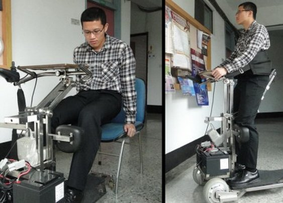 i-Transport robotic vehicle gets wheelchair-bound on their feet