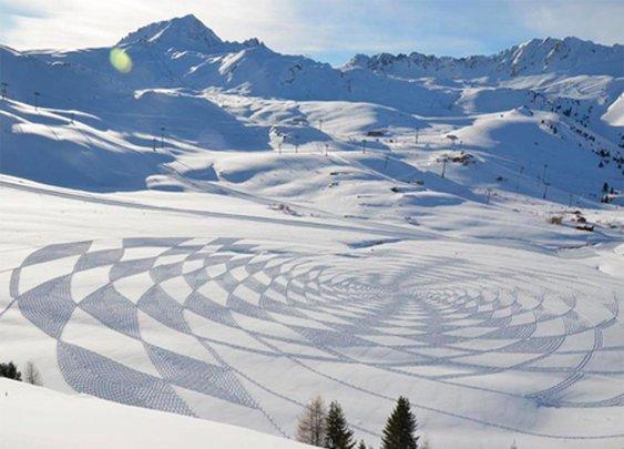 Incredible Geometric Snow Art   –  Flavorwire