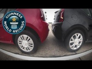 Tightest Parallel Parking… IN REVERSE! – Guinness World Records Classics
