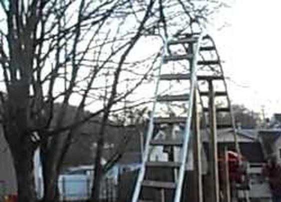 back yard pvc roller coaster with a 12 ft drop - YouTube