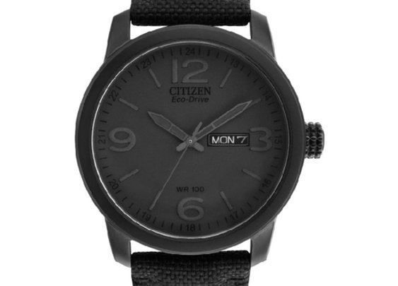 Citizen Eco Drive Black Stealth Watch — The Man's Man