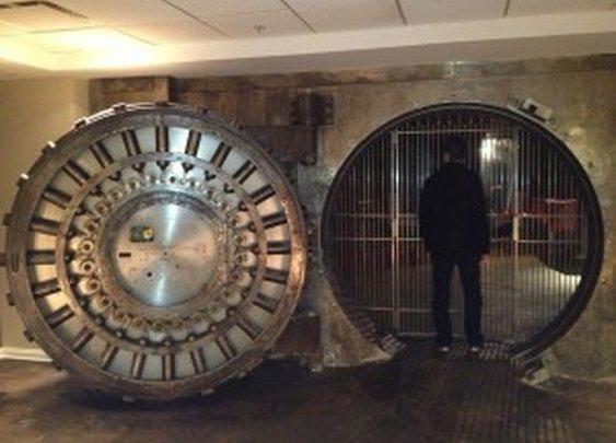 Bank Vault Door in Apartment Building | StashVault