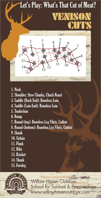 A Visual Guide to Venison Cuts