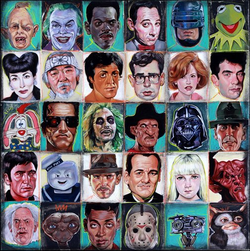 80s Out, A Painting of 1980s Movie Characters by Serge Gay Jr.