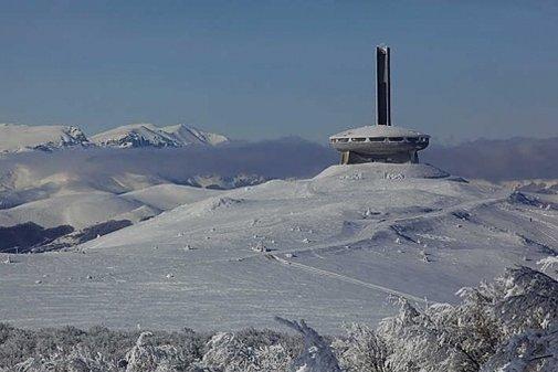 Communist monument and villan hideout