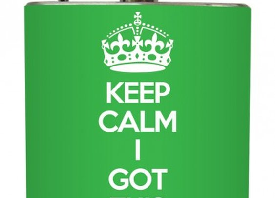 "Liquid Courage Flasks: ""I Got This"" - Keep Calm I Got This Flask"