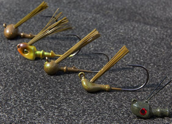Five Skirted Jighead Styles for Bass Fishing