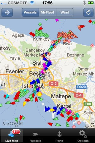 MarineTraffic Ships & Wind for iPhone, iPod touch, and iPad on the iTunes App Store