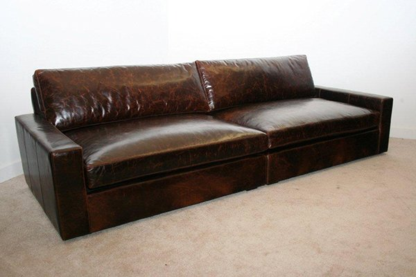 Extra Deep Leather Sofa Gentlemint