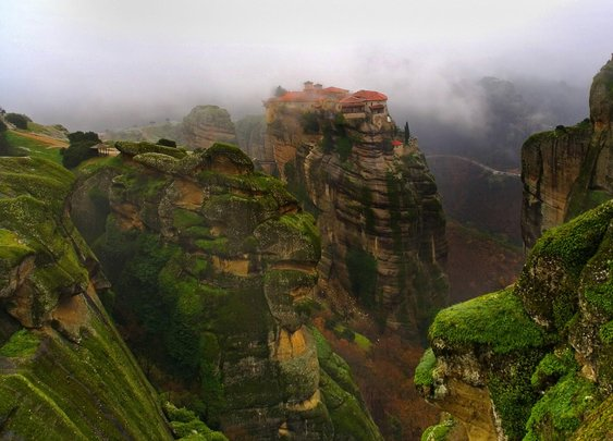 A Monastery in Meteora, Greece